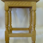 Copy of 17th century joint stool in oak