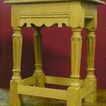 17th Century style oak joint stool