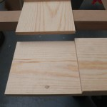 Pine subframe joined using half lap joints