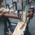 Clamping on borders using carved blanks as guides