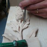 Fishtail chisel used for finer carving