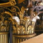 Plaster repairs to corinthian capitals