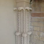 New Capital in place with sandstone finish