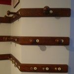 New section of hat rail matched in with originals