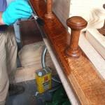 Applying oil stain