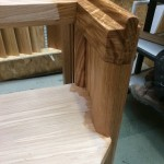 Oak pews oiled in workshop