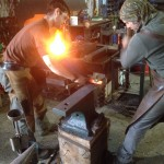Cobalt blacksmiths making iron fittings for chest