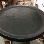 platter finished with Black water stain and mineral oil