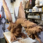 Carving in Workshop