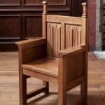 oak linenfold throne