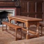 Oak table and benches