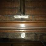 Water damaged timber interior