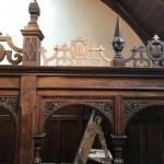 Recreated missing fretwork in Oak
